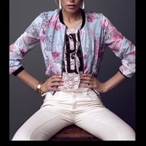 H&M Conscious Collection Floral Bomber Jacket 10